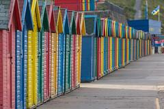 Beach Huts (scarlet-pimp) Tags: beachhut seafront colours beachhuts promenade beachchalet whitby westcliffbeach england yorkshire huts coast scarborough northyorkshire sandsend unitedkingdom gb