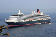 Queen Vic (robin denton) Tags: queenvictoria cruiseship cruise sorrento ship boat cunard gulfofnaples