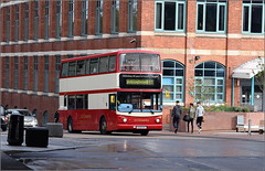 Gosford Street, Coventry (Oct. 2016) (paulburr73) Tags: 4453 coventry transbus trident alx400 alexanderdennis coventrytransport adl speciallivery redivory marshallred heritage bj03evc urban city citycentre gosfordstreet transport university midlands westmidlands nxc nxwm nationalexpress 2016 october 100thanniversary 19122012