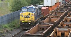 CSX Transportation (CSXT), GE C40-8W (Dash 8-40CW), CSXT 7378, in Staten Island, New York, USA. September, 2016 (Tom Turner - SeaTeamImages / AirTeamImages) Tags: railroad train engine locomotive csx tracks csxtransportation transport transportation csxt ge gec408w dash840cw 7378 csxt7378 statenisland newyork nyc bigapple unitedstates usa tomturner spot spotting