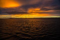 Menai sunset...... (Dafydd Penguin) Tags: sunset sun cloud sea menai straits anglesey caernarfon north wales colour color water light nikon d600 nikkor 20mm af f28d