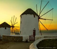 JW_Mykonos_09_11_16_39-Edit (HarrySchue) Tags: greece mykonos windmill sunset nikon d800e ocean water