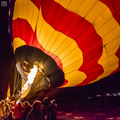 Pre-Dawn Flame (lycheng99) Tags: predawn dawn flame flaming blowing inflate inflating hotairballoon reno 2016reno greatrenoballoonrace color colorful blow wind air people glow shadow flag usflag stars stripes starsandstripes