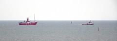 Mersey Bar lightship Planet (Peter Owen) Tags: crosby blundellsands beach lightship planet liverpool tug indus sharpness