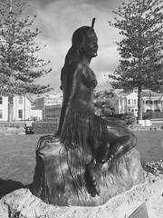 Pania Napier Hawkes Bay New Zealand - Explored (eriagn) Tags: iphone artdeco town city bronze statue pania napier hawkesbay newzealand maori heitiki portrait sculpture eriagn ngairehart photography art legend mythology paniaofthereef hair maiden tourism explore explored overtheexcellence