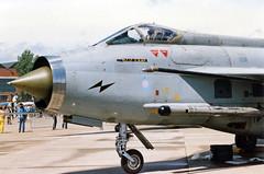 English Electric Lightning F.6 XR754 14 Mildenhall 29.05.1988 (Victor Vulcan) Tags: plane airplane aircraft aeroplane mildenhall royalairforce englishelectriclightningf6 xr754