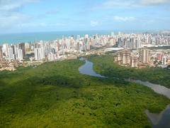 Recife helicopter flight_077 (mgrenner57) Tags: brazil southamerica river skyscrapers aerialview helicopter recife atlanticocean pernambuco 2012