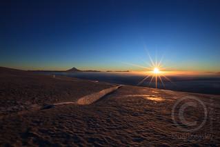 Sunrise over Volcanic Glacier