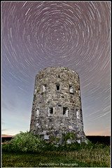 Pembroke Spin (Pikebubbles) Tags: tower night circle stars pembroke spin 365 guernsey startrails martello 366 nightography davidgilliver