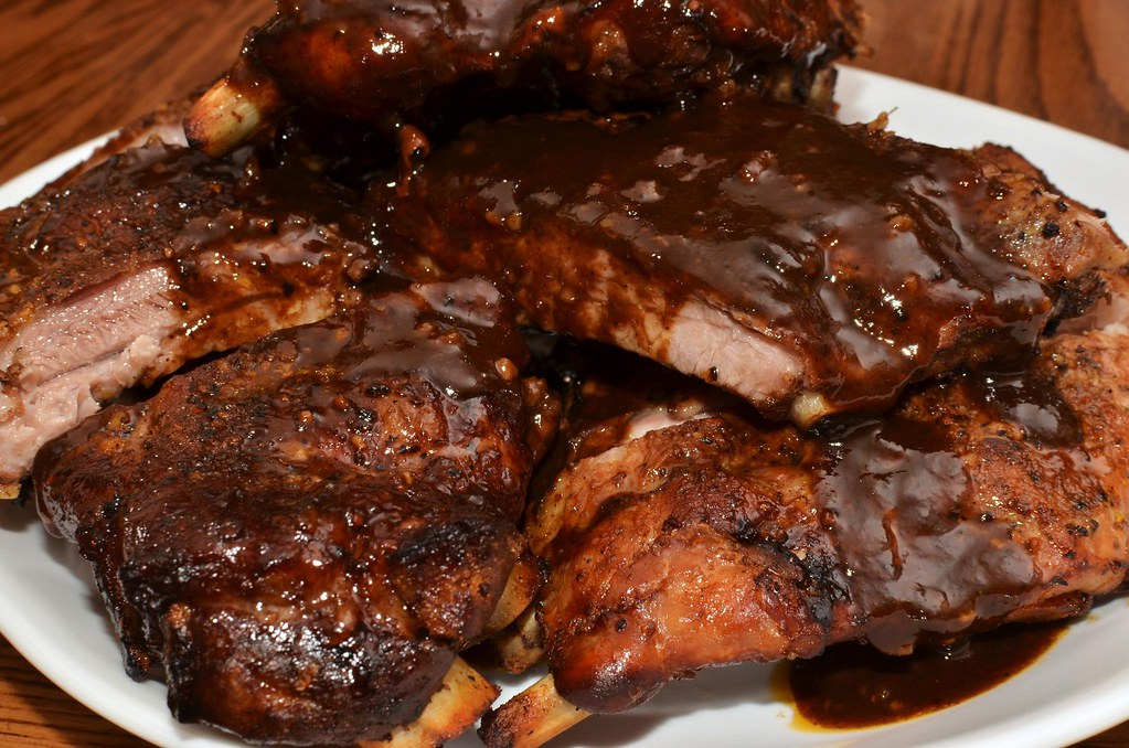Mmm... braised and sauced ribs by jeffreyw, on Flickr