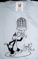 Remera Silvestre Tweety (Lady Krizia) Tags: cartoon tshirt tweety dibujos silvestre vinilo animacin animados remera wilwarin remeras estampado termoestampado