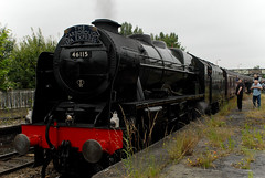 46115 Scots Gaurdsman (Normanton 55E) Tags: york taken via wakefield scarborough scots westgate castleford gaurdsman 46115 1z42