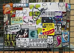 - (txmx 2) Tags: streetart sticker hamburg sfc combo treibgut spm mittenimwald straxx hallokarlo ignorethetagsonwhitetheyarefromastupidflickrrobot