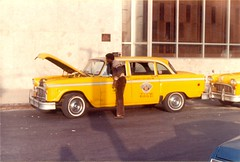 Taxi Driver, New York City (1982) (Paul-M-Wright) Tags: nyc newyorkcity original usa ny newyork man black yellow vintage us 1982 manhattan cab taxi traditional yellowcab retro 80s hood driver taxidriver gotham eighties 1980s oldnewyork paulwright lostnewyork newyork1980s