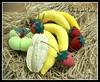 Bananas, morangos, carambola e mini moranga (ROTA da Arte) Tags: frutas em tecido