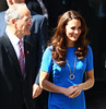 Catherine, Duchess of Cambridge, aka Kate Middleton,. leaves the National Portrait Gallery after attending an Olympic exhibition. London, England