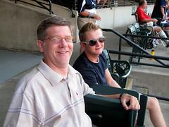 Guy and Cody at Progressive Field (Guy Fisher) Tags: family guy sports baseball cleveland cody clevelandindians gatewaydistrict progressivefield dad