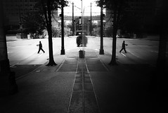 (sparth) Tags: seattle leica blackandwhite bw reflection mirror washington downtown wa mirrored washingtonstate 2012 x1 downtownseattle blackandwhitesquare leicax1