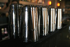 CLEAN CONTAINERS (marsha*morningstar) Tags: chicago bar lights glasses illinois stainlesssteel tumblers lincolnhotel