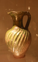Green-glazed pitcher (diffendale) Tags: italy rome roma art museum ceramic spiral display vessel ridge jug pottery museo artifact pitcher eastern archaeological glazed elam orientale nazionale darte brocca elamite mnao museonazionaledarteorientale 1stcbce 1stcce pleiades:findspot=912842