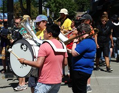 Big Band Sound (knightbefore_99) Tags: lbgt lesbian gay commercialdrive vancouver pride dyke march 2012 city bi band music parade fat local sunny