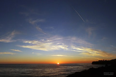 Palos Verdes - winter's last sunset (RobertCross1 (off and on)) Tags: ocean california sunset sun lighthouse seascape beach water clouds landscape atardecer coast la losangeles surf waves pacific socal peninsula anochecer palosverdes puestadelsol pointvicente xploration
