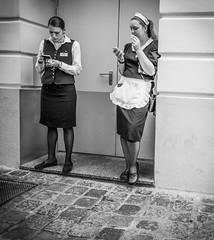 break-1317 (Theo Olfers) Tags: bw white black salzburg girl break mail candid smoke text sms omd 2012 em5 stphotographia