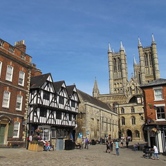 Lincoln Cathedral (Rosmarie Wirz) Tags: uk cathedral unitedkingdom lincolnshire lincoln townscape midlands travelpicture