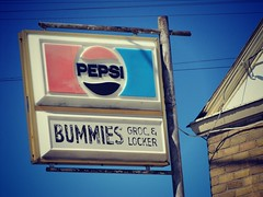 Bummie's (jimsawthat) Tags: closed kansas ghosttown pepsi pepsicola grocery smalltown elmdale plasticsigns