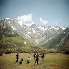 My lovely family (*YIP*) Tags: travel family newzealand summer cloud mountain holiday snow 120 6x6 film nature mediumformat square outdoors photography day kodak mtcook southisland epson majestic kiev scenics clearsky mountainrange tranquilscene kiev60 yip mtcooknationalpark iso160 traveldestinations colorimage v500 physicalgeography coldtemperature yipchoonhong
