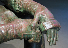 Apollonius, Boxer at Rest, detail with Hands (close)