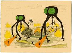 War of the Worlds (Jack Teagle) Tags: fire death sinister fear panic sciencefiction tripods gouache waroftheworlds martians hgwells heatrays