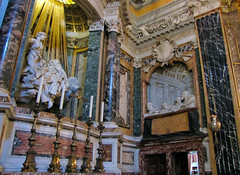 Bernini, Ecstasy of Saint Teresa with Cornaro witnesses at right, Cornaro Chapel, Santa Maria della Vittoria