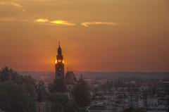 Salzburg - Müllner Kirche (hjuengst) Tags: sky salzburg clouds austria österreich sonnenuntergang kirche wolken kapuzinerberg nikond7000hdr