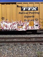 Chez (Runtrains) Tags: art graffiti chez freight trainart runtrains