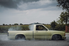 John's S10 [08.14.12] (Andrew H Wagner | AHWagner Photo) Tags: canon eos 7d 35l 35mm f14 f14l truck auto minitruck bagged burnout smoke slammed automotive tire chevy chevrolet s10