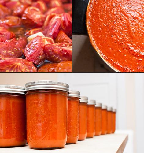 food cooking collage tomato unitedstates massachusetts tomatoes somerville jar produce tomatosauce preserving foodpreparation 365photoproject