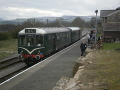 Wensleydale Railway (DarloRich2009) Tags: br yorkshire railway britishrail northyorkshire wr wensleydale britishrailways dmu wensleydalerailway redmire dieselmultipleunit class110 redmirestation wenslydalerailway