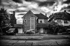 Creepy (cuppyuppycake) Tags: england white house black london scary creepy spooky neighbourhood