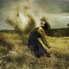 Purge (ShastaRain) Tags: selfportrait darkart field purge fineartphotography conceptual life healing dirt rope surreal change growth shastalin