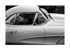 Chevrolet Corvette (Richard C. Johnson: AKA fishwrapcomix) Tags: leicaq summiluxf17 28mm chevrolet carshow corvette vette motorcity detroitwheels musclecar automobile hardtop reflections blackwhite bw monochrome wetzlarmojo deutschemagic car vehicle blackandwhite madeinamerica route66 vintage collectable chrome fiberglass todstiles buzmurdock