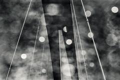 About A Bridge (pni) Tags: sky cloud metal steel tensionrod monochrome bridge multiexposure multipleexposure tripleexposure blur focus bokeh light bubble isoisnsilta farfarsbron helsinki helsingfors finland suomi pekkanikrus skrubu pni