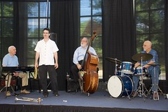 2016 July 25, Jazzing at the Florence Library (King Kong 911) Tags: base billgoodwin drums keyboard sax nealstarkey renekoopman trumpet