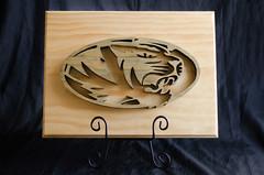 MU Tiger - Scrollsaw (bobbisharp) Tags: sharpcustoms sharpcustomswoodworking scrollsaw scrollwork mu mutigers tigers woodworker woodworking hardwood