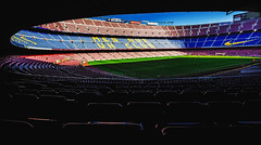 Camp Nou (Daniel Zwierzchowski) Tags: barcelona spain catalunya stadium architecture football barca fcbarcelona campnou seats view canon eos550d rebel t2i eos 1022mm