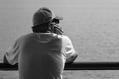 River crossing - 2 (Papaye_verte) Tags: quebec canada leverte stlawrenceriver streetphotography man candid portrait traversier ferry