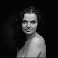 Ludmila (thexvo) Tags: hasselblad 501cm sonnar fujifilm neopan acros film filmisnotdead filmphotography 120film ishootfilm mediumformat mformat 6x6    xvophoto portrait portraitisreligion  carlzeiss