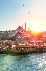 Istanbul (khedmati) Tags: istambul nikon sigma light sun sunset sky city landscape river water birds people outdoor mosque orengy yellow turkey blue flickr contrast summer red golden