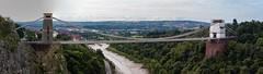Clifton Suspension Bridge Panorama (21mapple) Tags: panorama panoramic bristol river clifton suspension bridge cliftonsuspensionbridge wire clouds cloudy canon750d canon canoneos750d canoneos