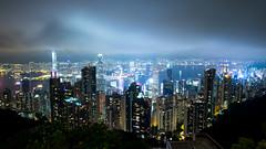Victoria Harbor from The Peak (Bowen Chin) Tags: hongkong skyline victoriaharbor thepeak fujifilm fujifilmx fujifilmxe2